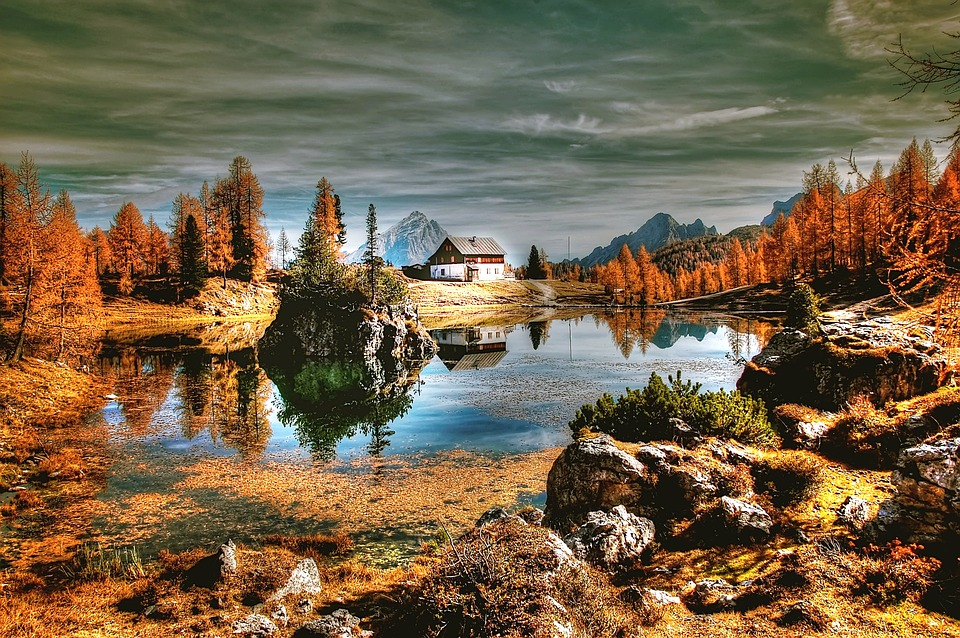 Dolomites, Mountains, Lake, Bergsee, Cortina D Ampezzo
