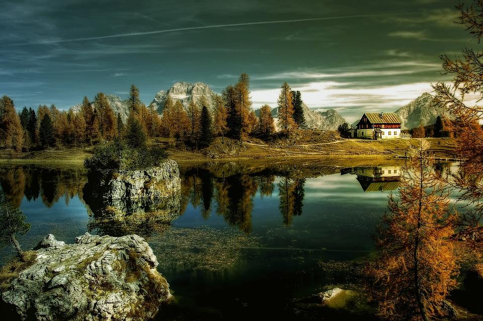 Bergsee, Croda Da Lago, Dolomites, Landscape, Alpine