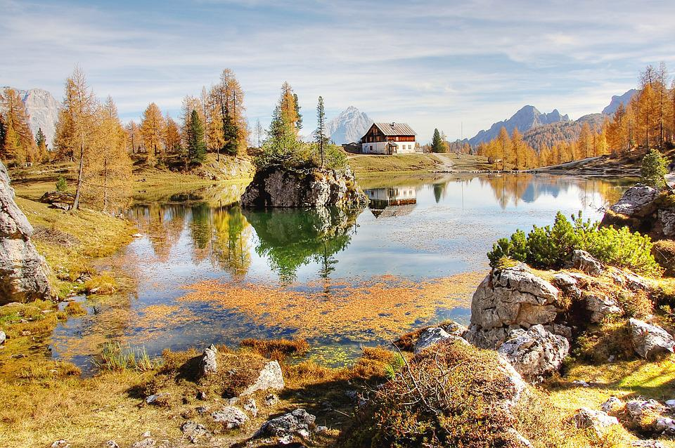 Rifugio Palmieri, Dolomites, Bergsee, Alm, Nature, Lake
