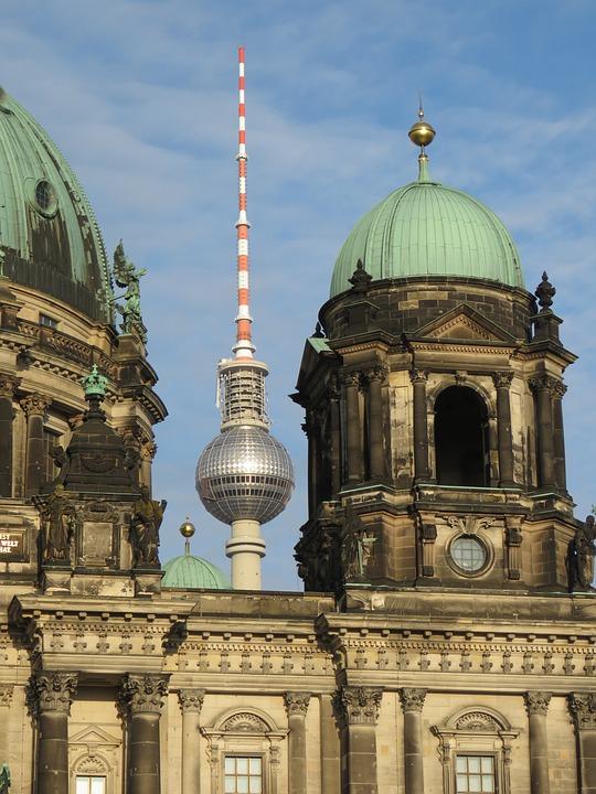 Tv Tower, Berlin Cathedral, Berlin, Alexanderplatz