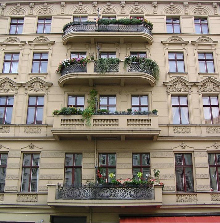 House Facade, Balcony Rmazza, Kreuzberg, Berlin