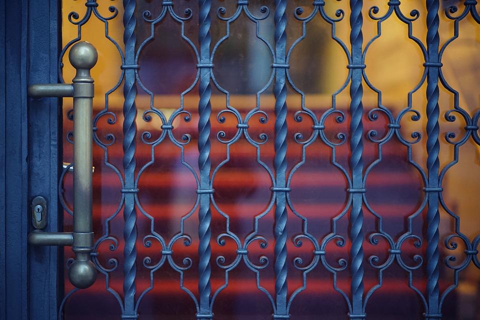 Berlin, Door, Emergence, Red, Dark, Blue, Input