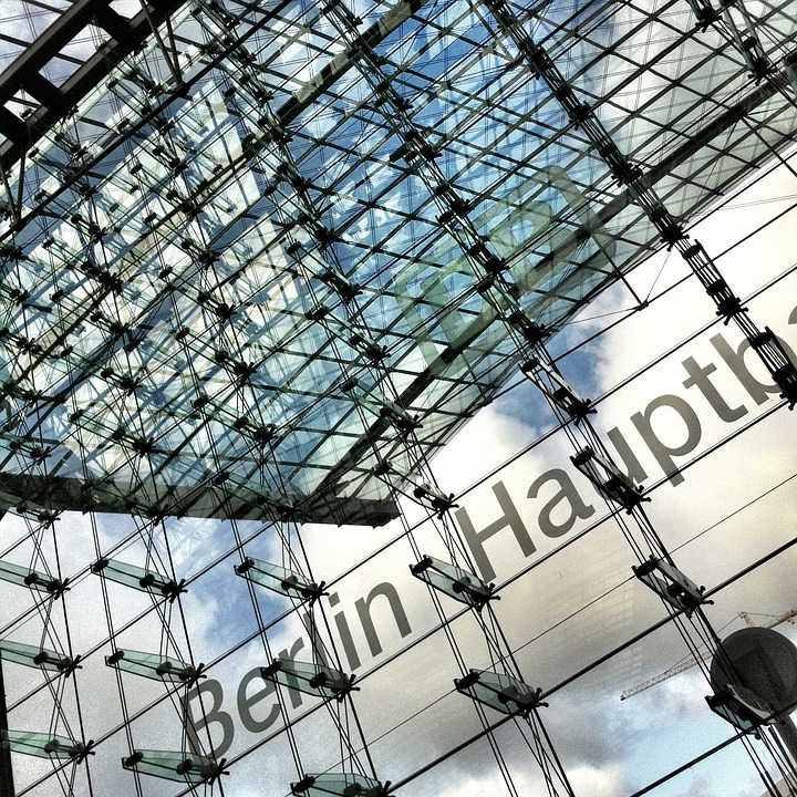Berlin, Central Station, Railway Station, Glass Facade