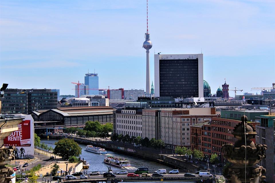 Berlin, Berlin From Above, High, Clouds, Sky, Outlook