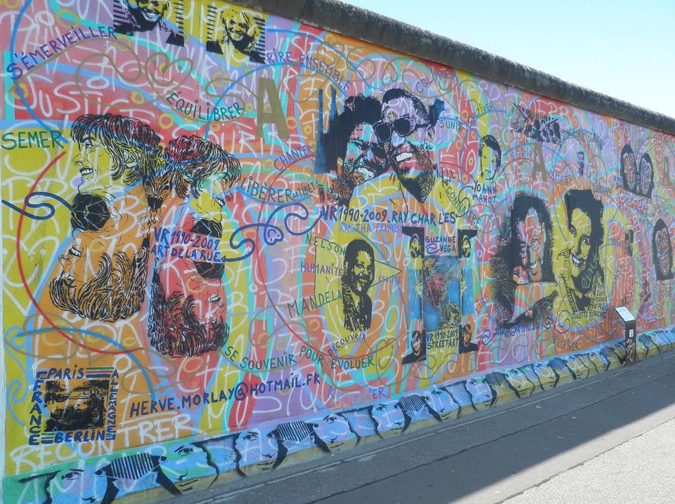 Berlin, Art, East Side Gallery, Graffiti