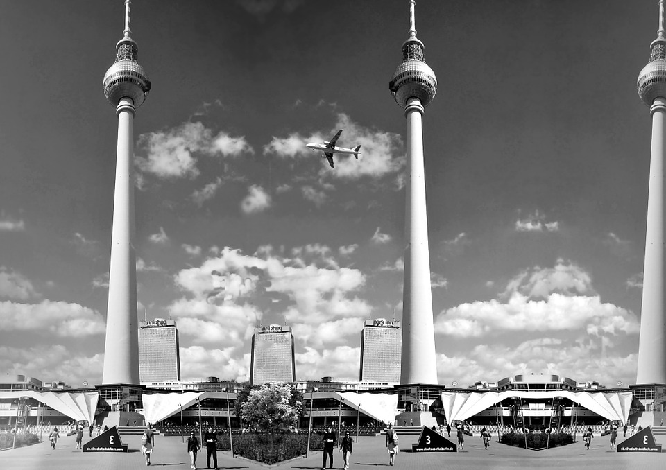 Berlin, Tower, Tv Tower, Architecture, Square, Park