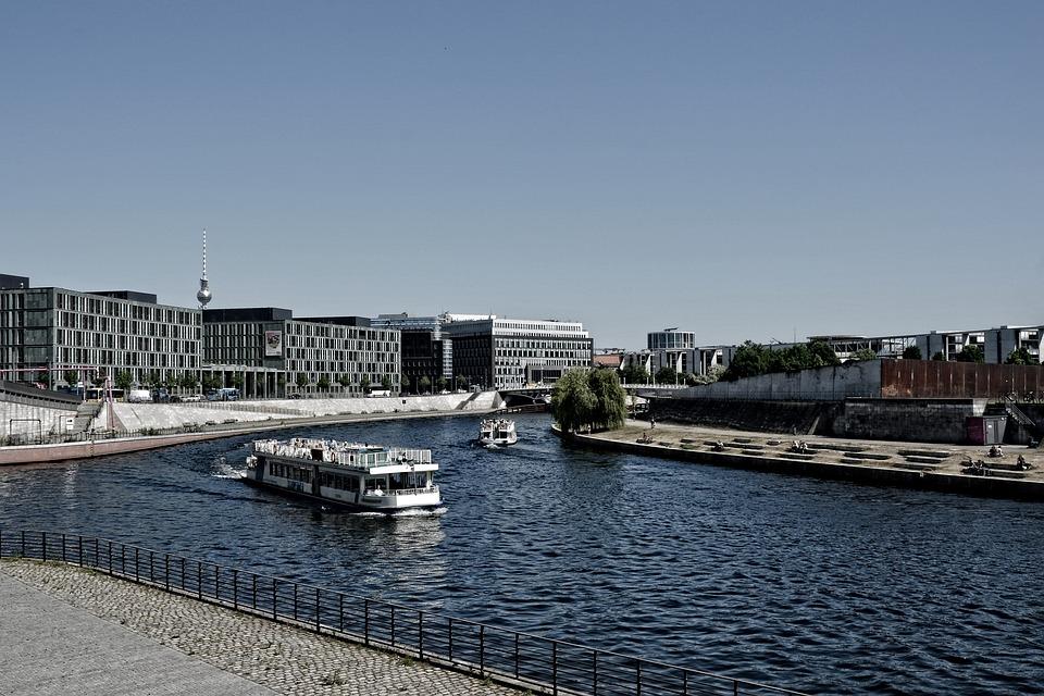 Spreebogen, Berlin, Spree, Tv Tower, Capital, Boat Trip