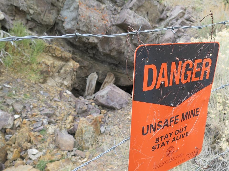 Berlin State Park, Nevada, Mining, Danger, Sign, Old