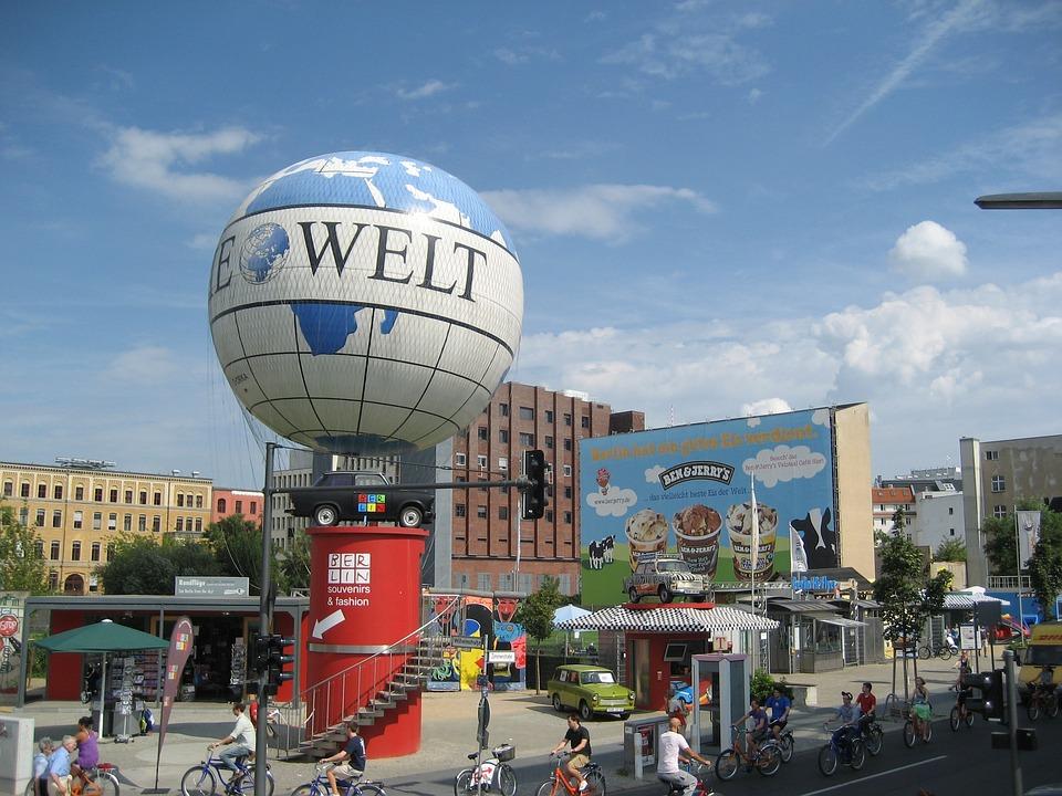 Berlin, Urban, Tower, Blue, Bicycle, Die Welt, City