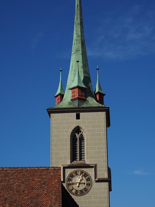 Church, Steeple, Nydeggkirche, Bern, Building