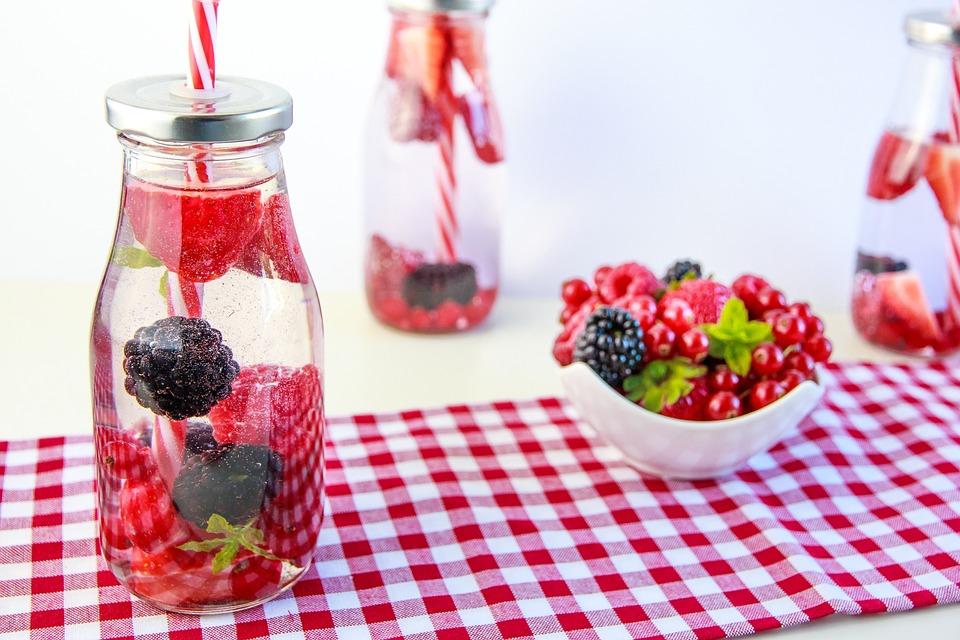 Berries, Erfrischungsgetränk, Drink, Healthy, Water