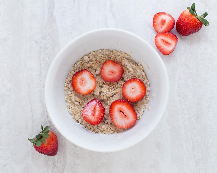 Oatmeal, Cereals, Strawberries, Berries, Bowl
