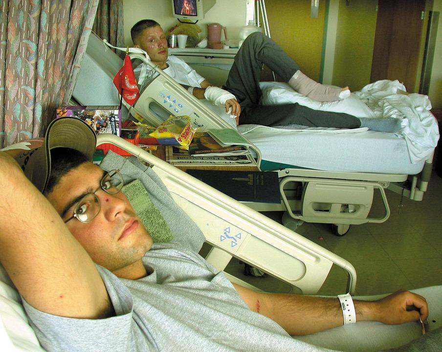 Bethesda Naval Hospital, Patients, Men, Recuperating