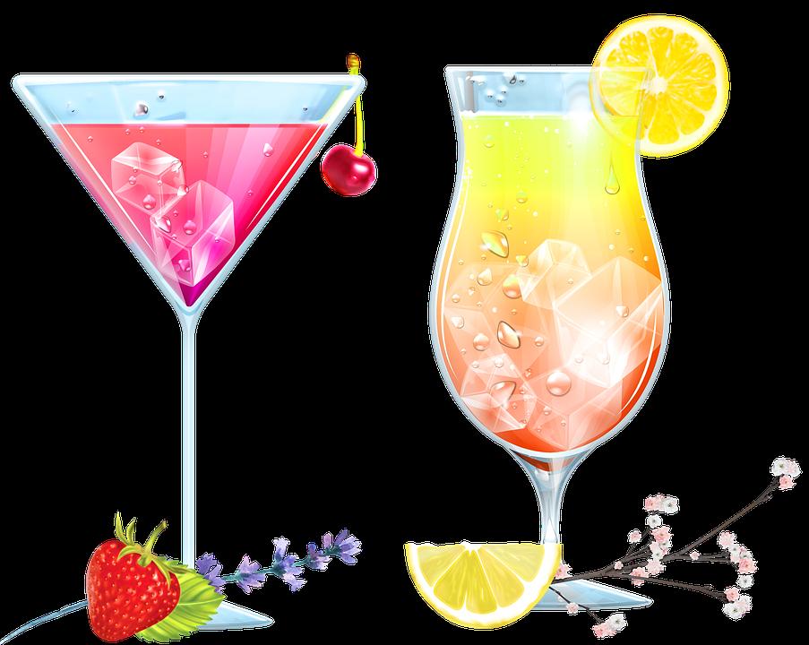 Cocktails, Drinks, Alcohol, Glass, Bar, Beverage
