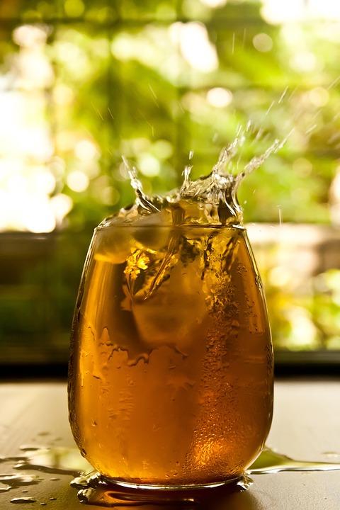 Drink, Beverage, Glass, Splash, Ice Cube, Refreshing