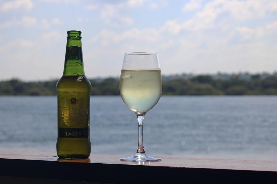 Beverages, Beer, Bottled, Glass, Wine, Deck, River