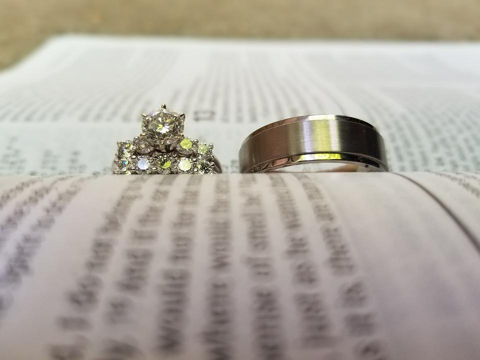 free photo bible marriage wedding love rings wedding rings max pixel
