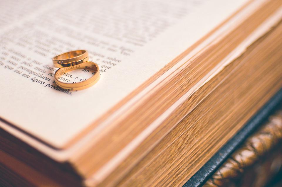 Couple, Love, Rings, Religion, Book, Marriage, Bible