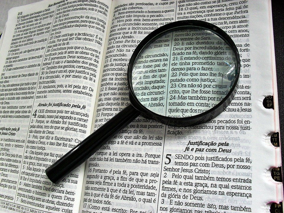 Magnifying Glass, Bible, Bibliology, Theology