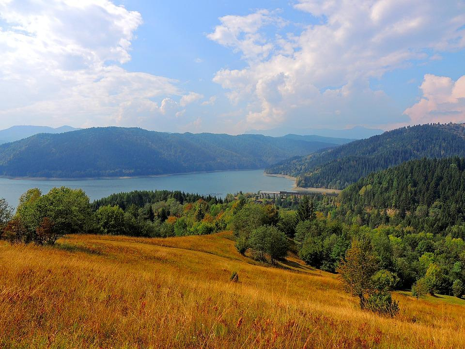 Lake, Bicaz, Romania, Water, Dam, Landscape, Nature