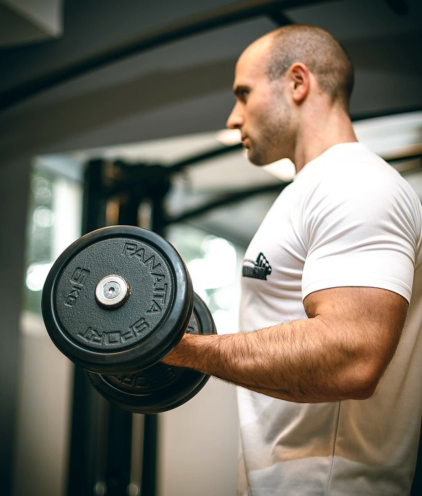Gym, Sport, Fitness, Biceps, Arms, Workout, Dumbbell