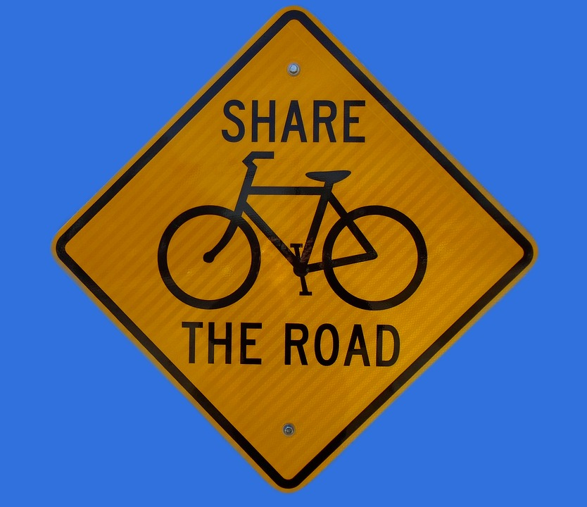 Warning, Sign, Bicycle, Traffic, Road, Caution, Alert