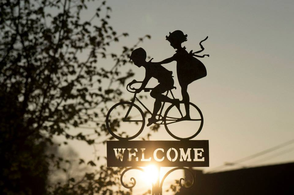 Sign, Bicycle, Decoration, Bike, Children, Welcome