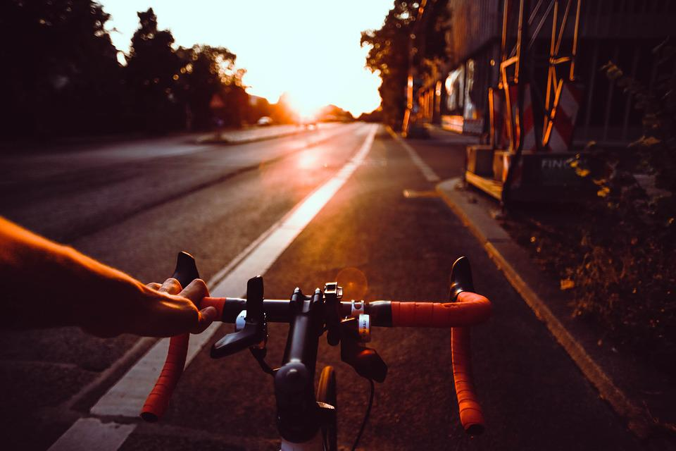 Asphalt, Bicycle, Bike, City, Dusk, Road, Street