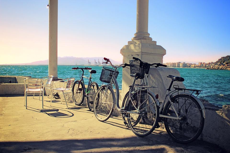 Sea, Landscape, Sky, Holiday, Bicycle, Summer, Malaga