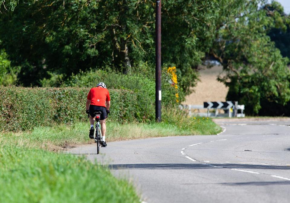 Bicycle, Man Riding On Road, Man On Bike