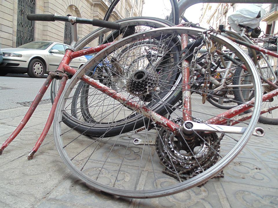 Barcelona, Street, City, Bicycle, Old, Abandoned, Via