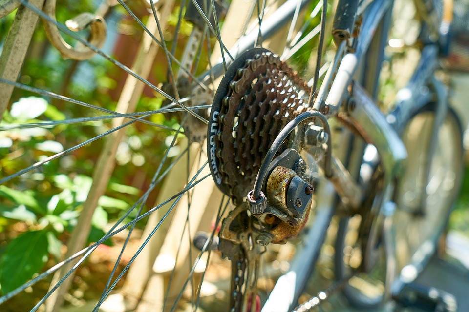 Bicycle, Chain, Macro, Old, Rusty, Move, Energy