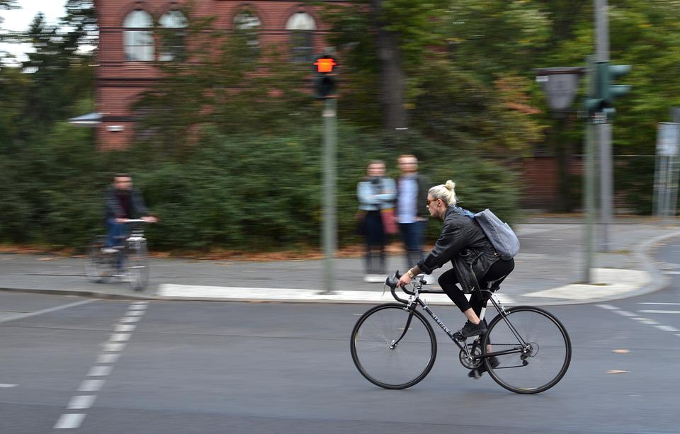 Bike, Girl, Panning, Bicycle, Cycle, Cyclist, Outdoor