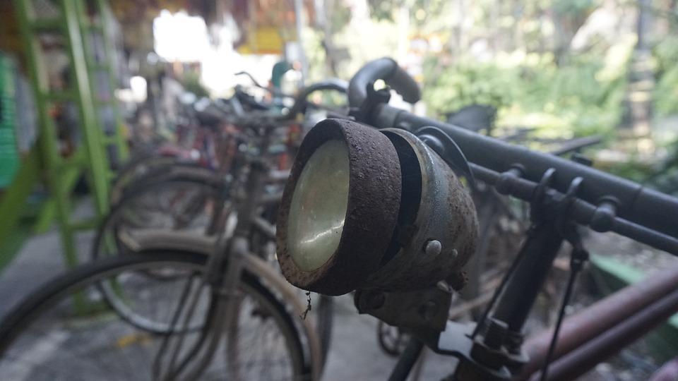 Bicycle, Vintage Bike, Headlight, Lifestyle, Vintage