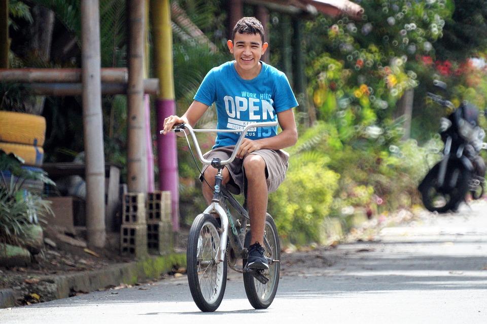 Young, Boy, Bicycle, Cycling, Riding A Bike