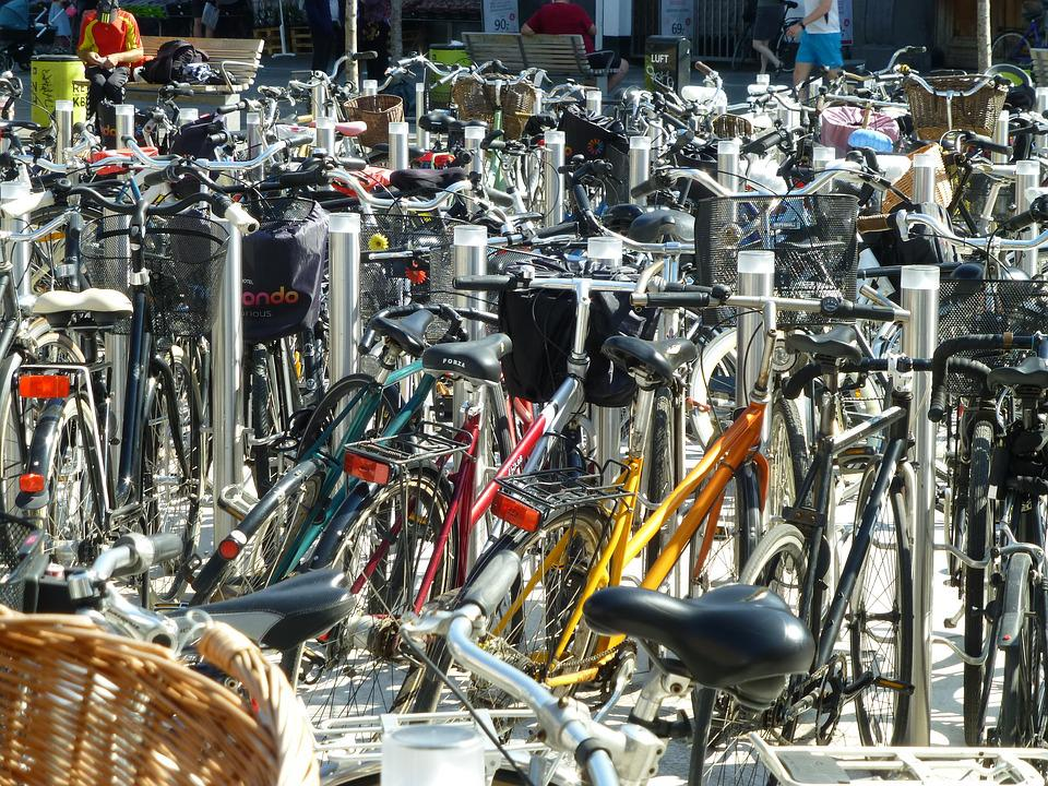 Bicycles, Parking, Transport, Cycling, City