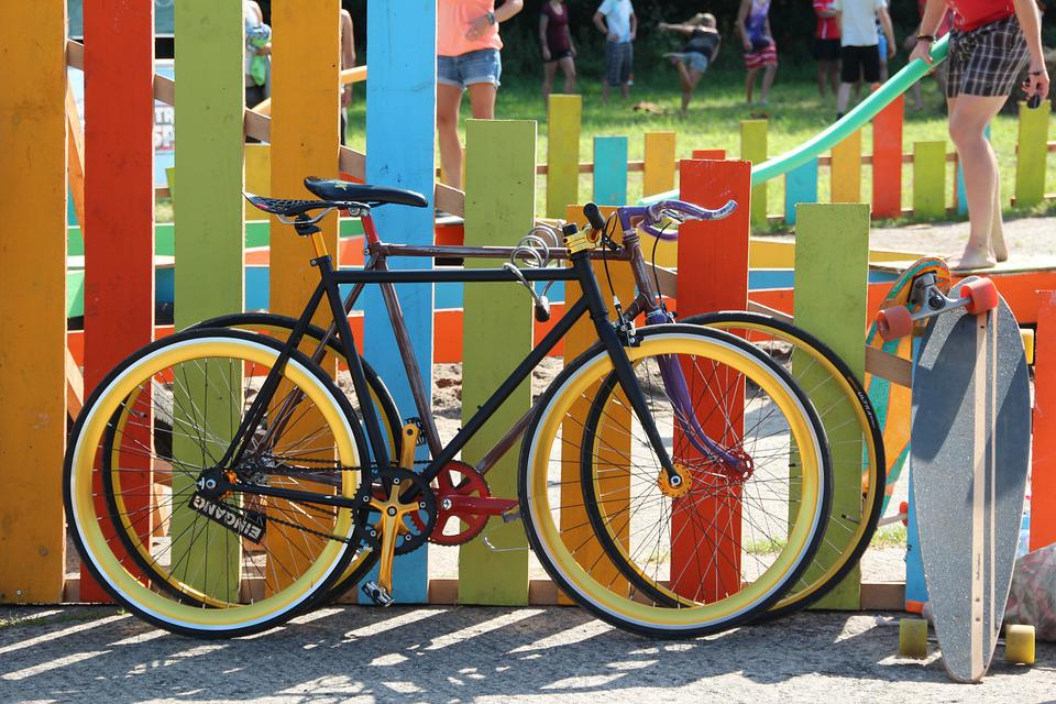 Bicycles, Colorful, Color, Fence