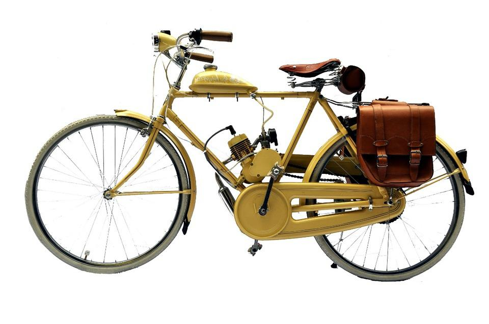 Bicycles, Old, Motorized
