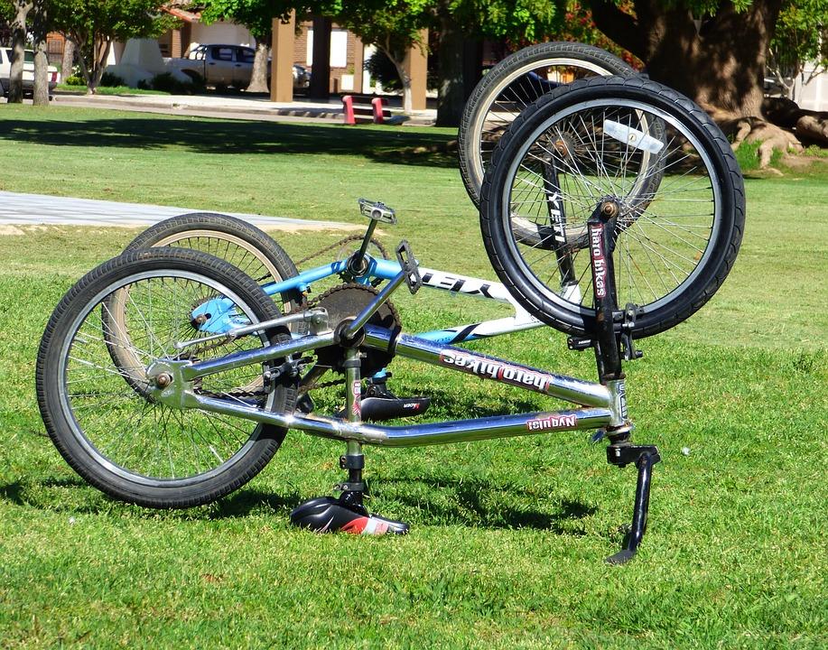 Bicycles, Lawn, Plaza, Children