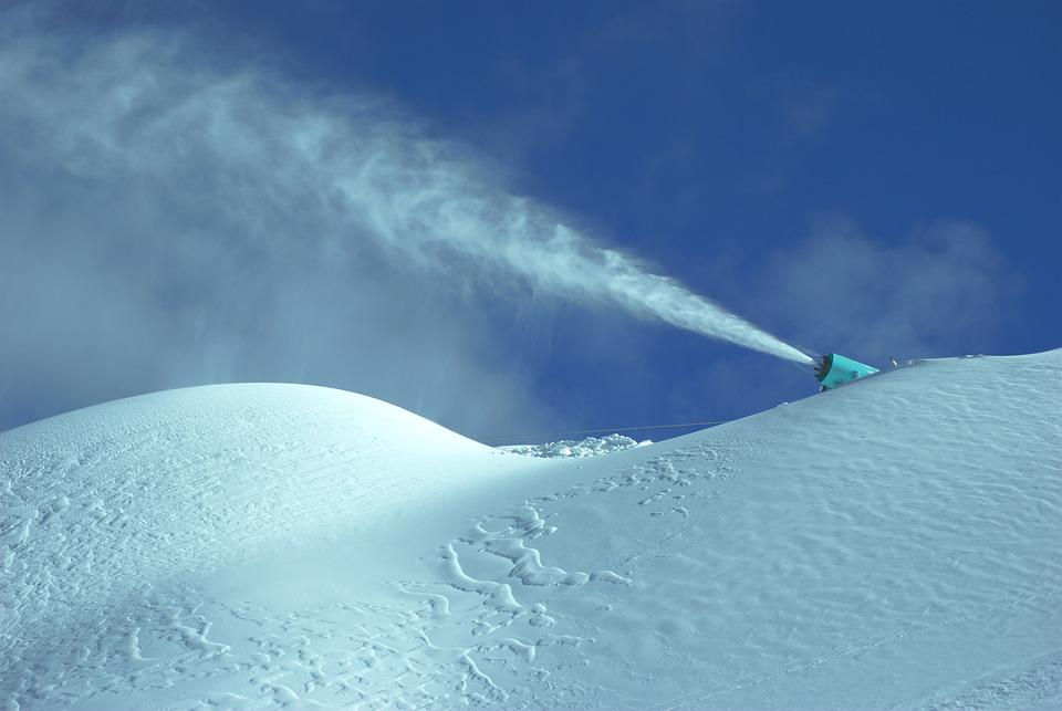 Snow, Cannon, Skis, Stok, Winter, Mountains, Biel