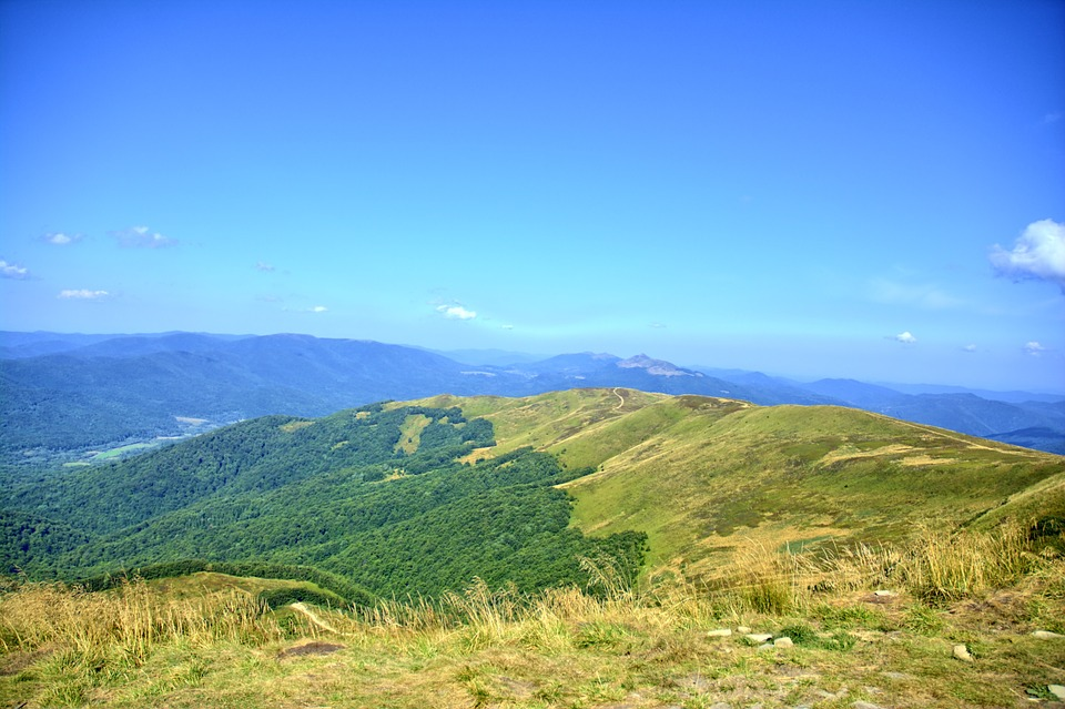 Bieszczady, Mountains, The Silence, Poland, Sky