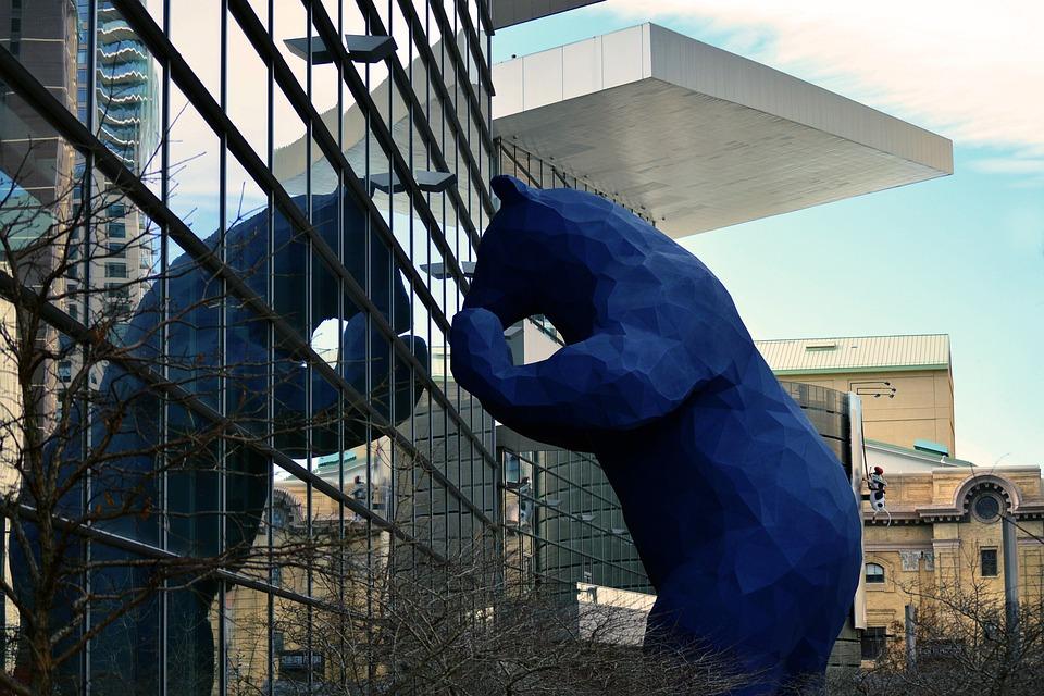 Blue, Bear, Denver, Monument, Landmark, Big