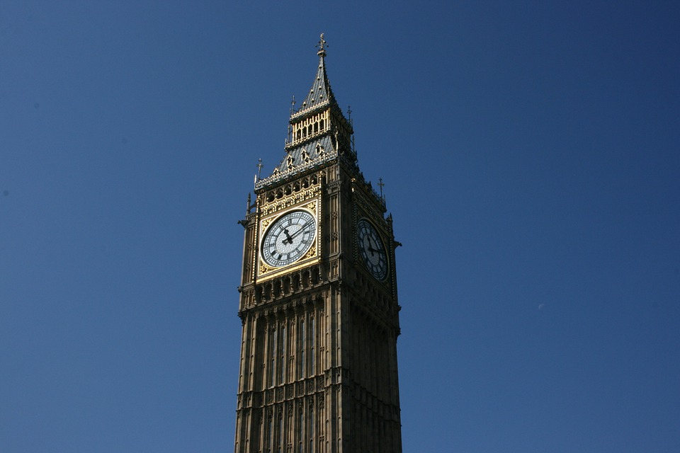 Big Ben, Blue Sky, London