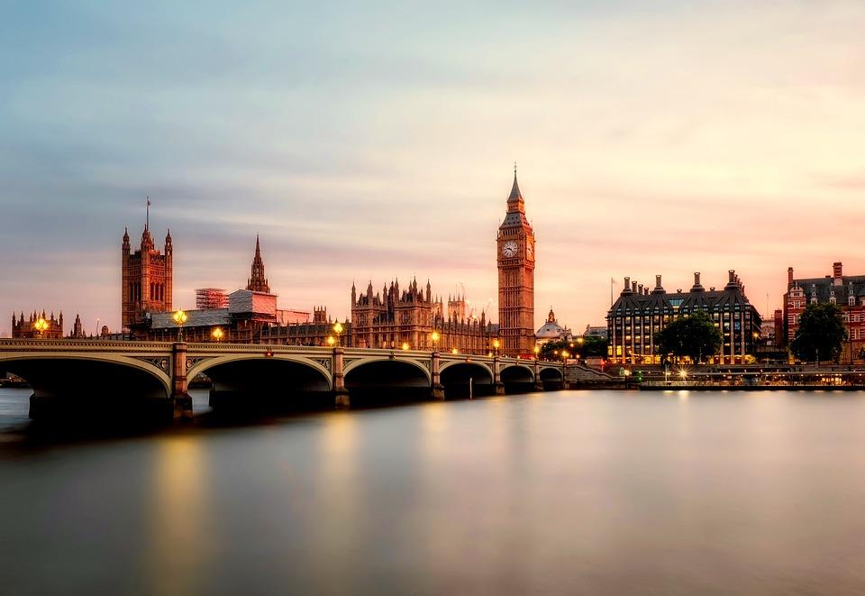 Big Ben, Bridge, City, Sunrise, River