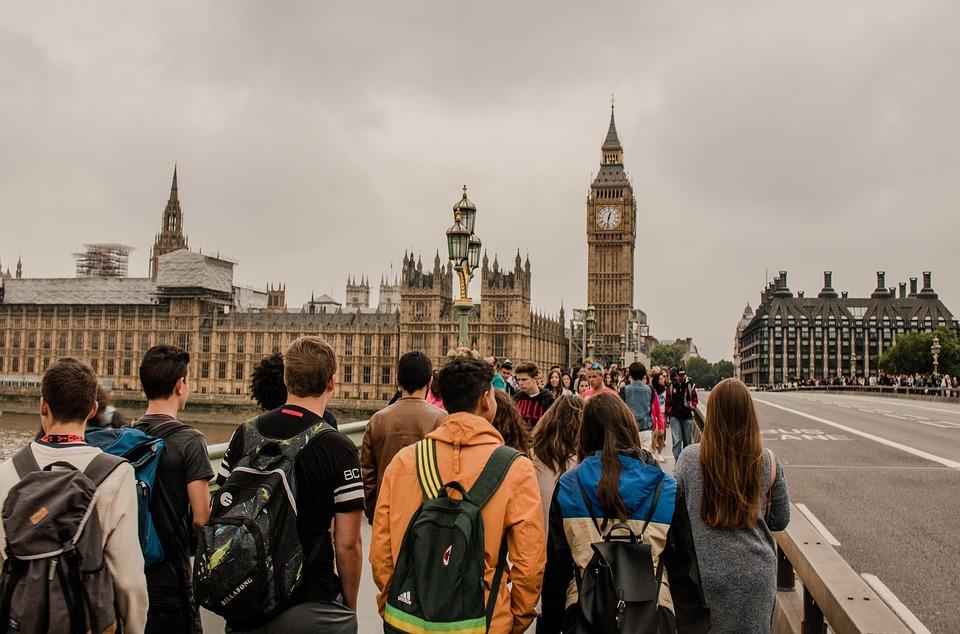 London, Big Ben, Crowd, Tourists, England