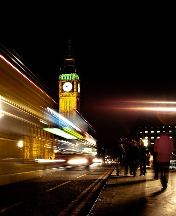 London Bus, Big Ben, Parliament Bridge, England