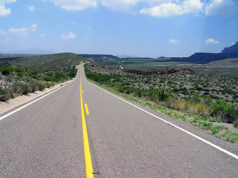 Big Bend, Texas, Landscape, Scenic, Road, Highway