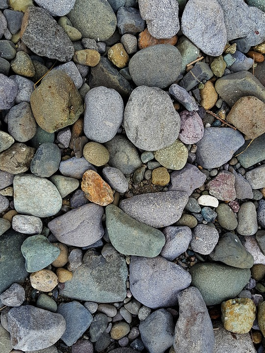 Stones, Pebbles, Nature, Big Stone, Summer