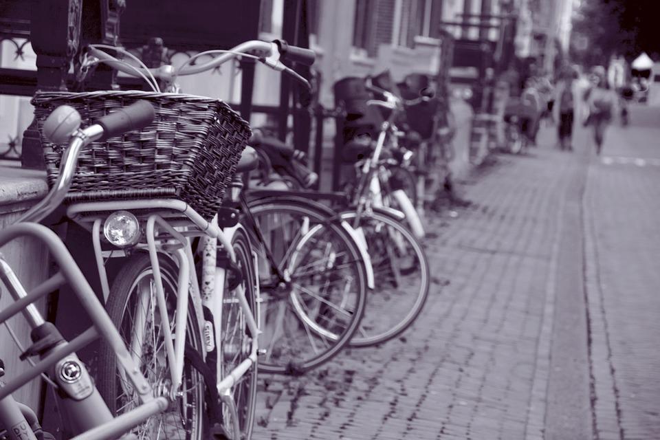 Amsterdam, Bike, Graziella, Wicker Basket, Bike Basket