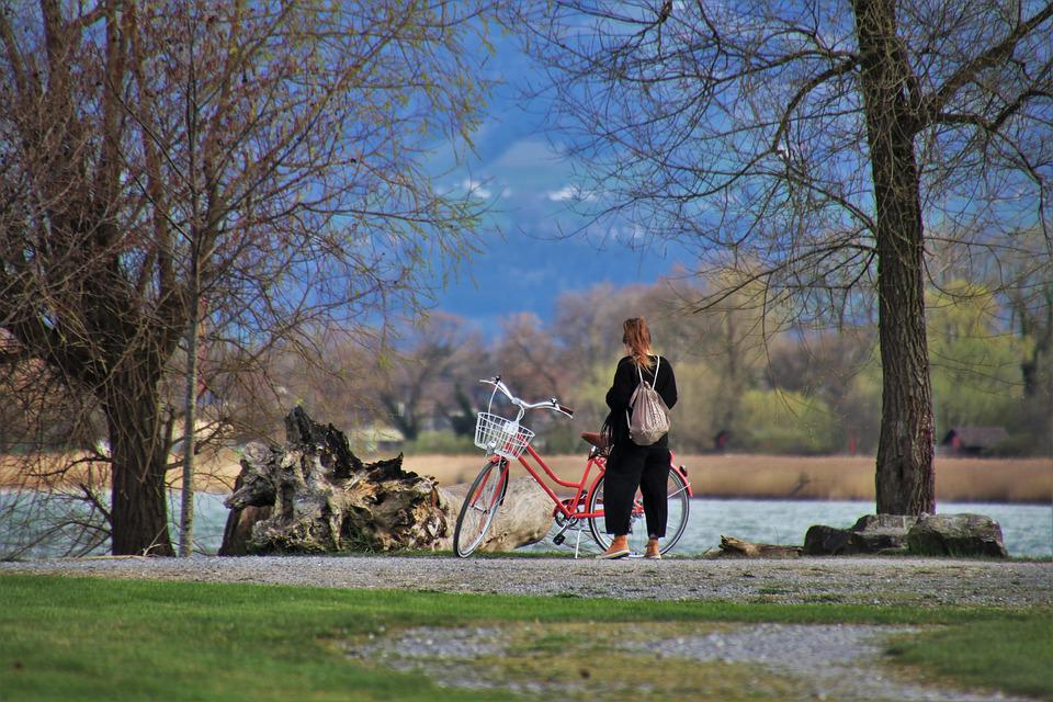 Beach, Bike, Water, Nature, Bodensee, Relaxation, She
